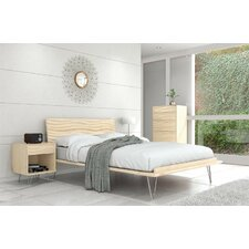 Wave 5 Drawer Chest with Wooden Legs by Copeland Furniture