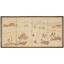 36 x 72 Crossing the Heavens 4 Panel Room Divider by Oriental Furniture