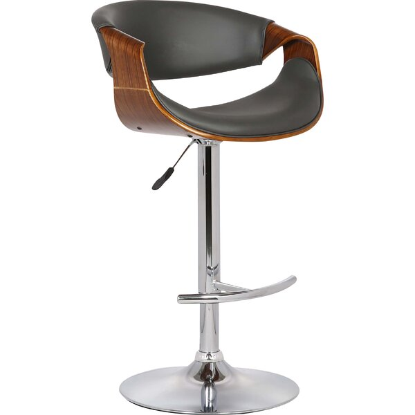 Alvin Adjustable Height Swivel Bar Stool by Corrig