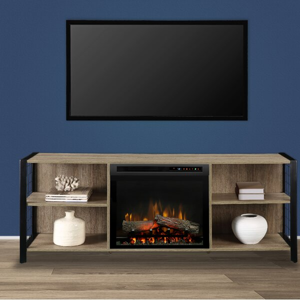 Toussaint TV Stand For TVs Up To 70 Inches With Fireplace Included By Williston Forge
