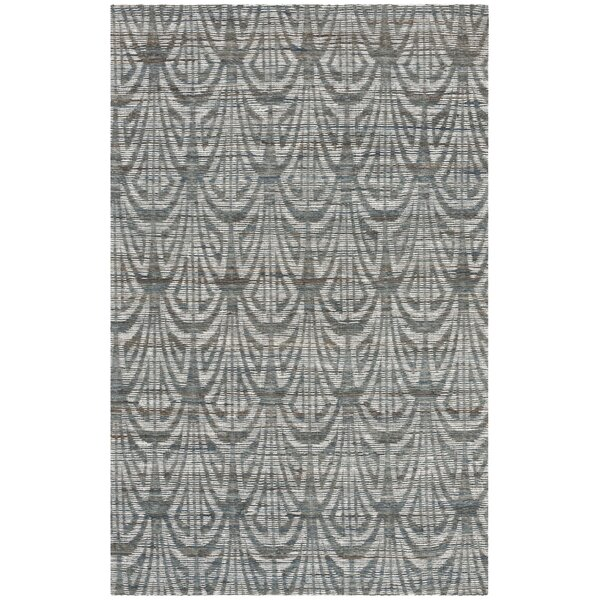 Abia Hand-Woven Slate Area Rug by Highland Dunes