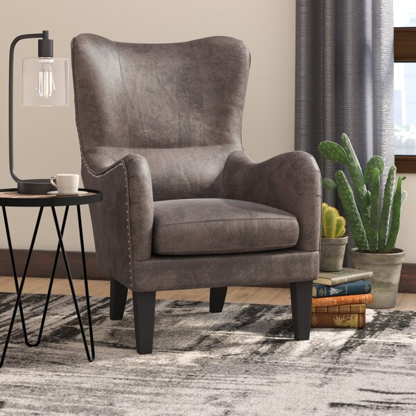 Rockport Hi-Back Studded Wingback Chair by Trent Austin Design