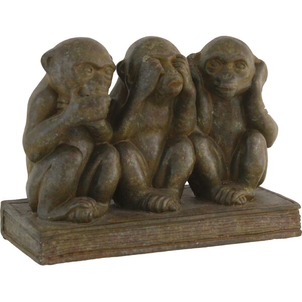 Three Monkeys Decor Figurine by Import Collection