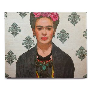'Frida Kahlo-Trendy V2' Painting Print on Wood by East Urban Home
