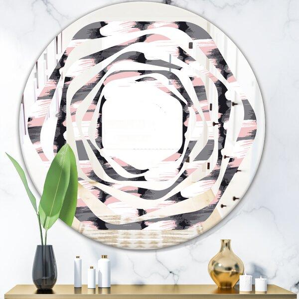 Whirl Paint Brush Strokes Modern Farmhouse Wall Mirror
