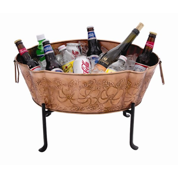 Embossed Steel Beverage Tub by ACHLA