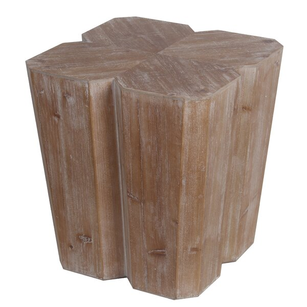 Kamra Wood Accent Stool by Union Rustic