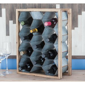 Wood/Metal 11 Tabletop Wine Bottle Rack by Cole & Grey