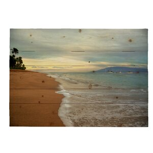 'Kaanapali Sunrise Hawaiian Islands' by Kelly Wade Photographic Print Plaque by Hadley House Co