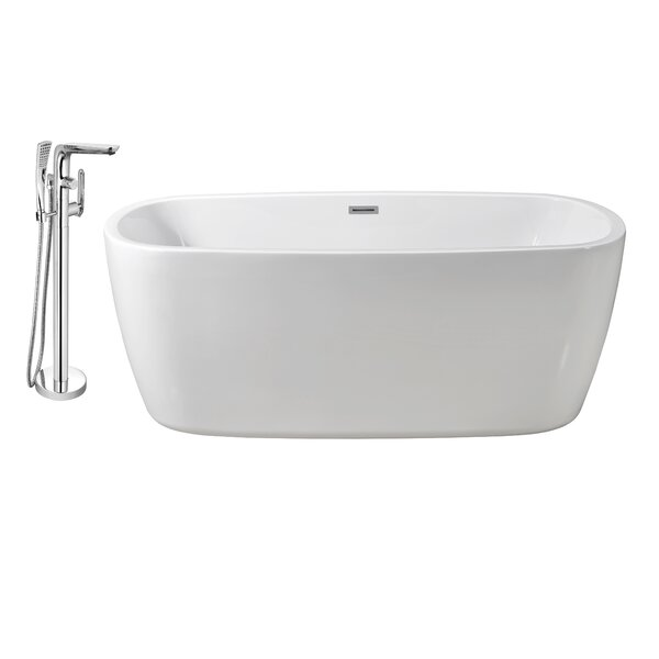 59 x 24 Freestanding Soaking Bathtub by Wildon Home ®