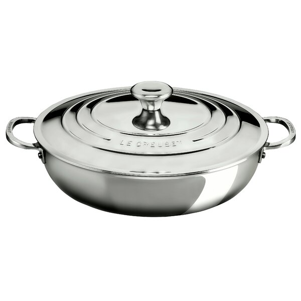 Stainless Steel 5 Qt. Round Braiser with Lid by Le Creuset
