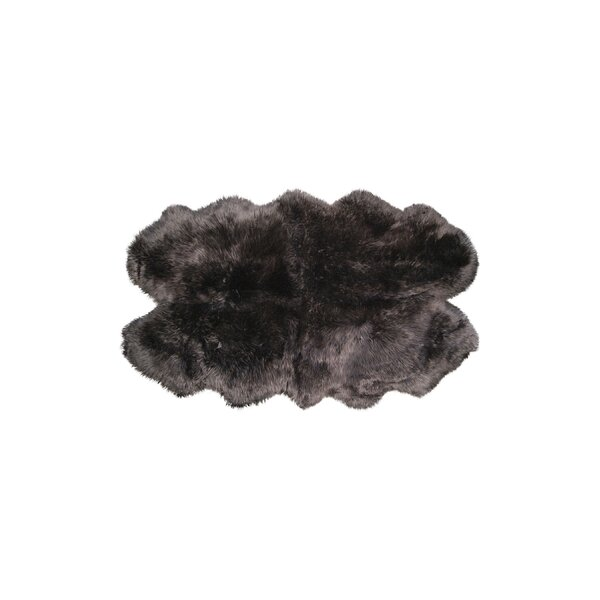 Hand-Knotted Chocolate Sheepskin Area Rug by Natural Rugs
