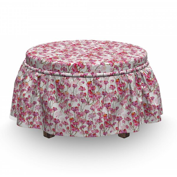 Bubbly Petals Ottoman Slipcover (Set Of 2) By East Urban Home