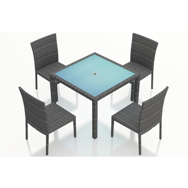 District 5 Piece Sunbrella Dining Set by Harmonia Living