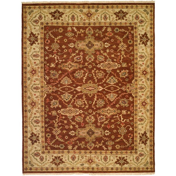 Qingdao Hand-Woven Brown/Beige Area Rug by Meridian Rugmakers