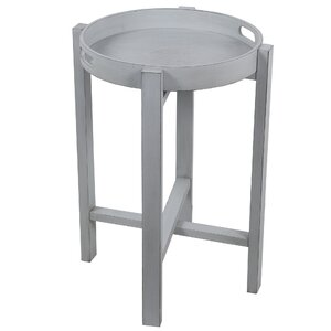 Aledo Round Tray Table Highland Dunes