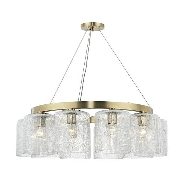 Ector 10 - Light Shaded Wagon Wheel Chandelier By 17 Stories