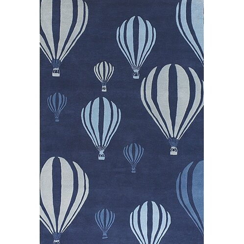 Caddy Balloon White/Blue Area Rug by Viv + Rae
