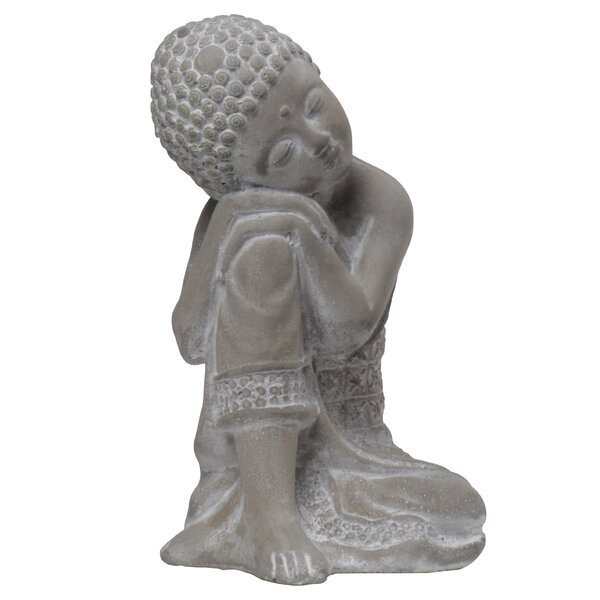 Vermehr Cement Resting on Knee Buddha by World Menagerie