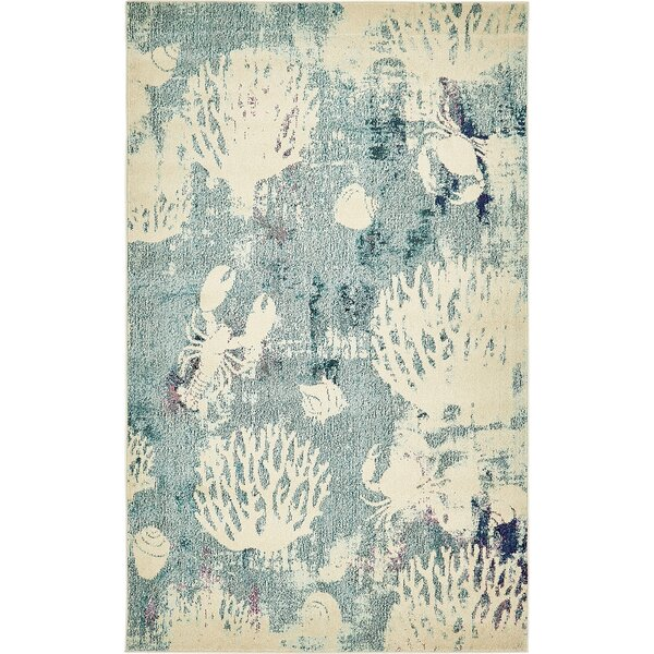Ethel Light Blue Area Rug by Bayou Breeze