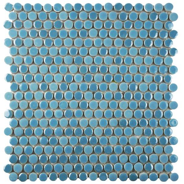 Tucana 0.59 x 0.59 Porcelain Mosaic Tile in Sky by EliteTile