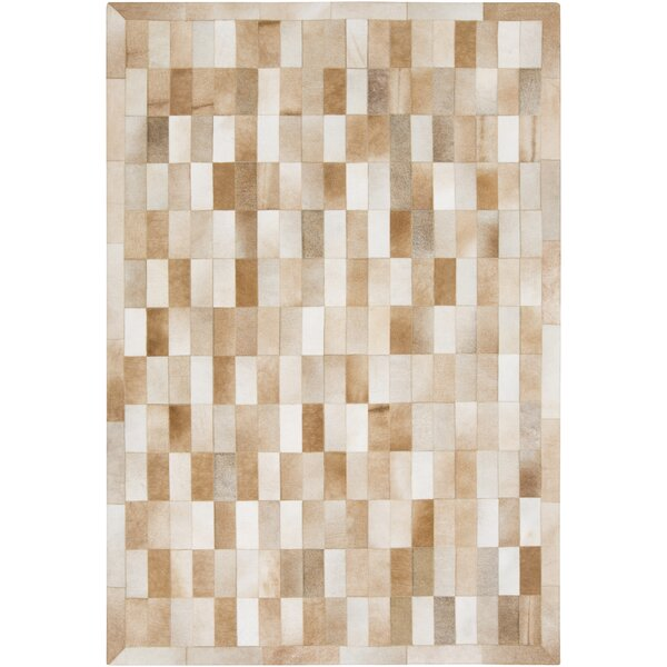 Harvey Hand Woven Cowhide Brown/Beige Area Rug by Union Rustic