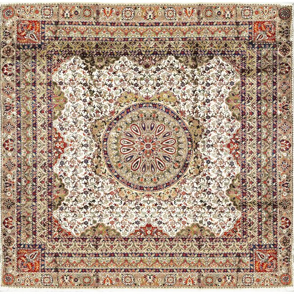 One-of-a-Kind Handwoven Ivory/Light Brown Indoor Area Rug by Bokara Rug Co., Inc.