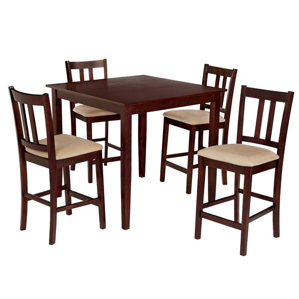 Atterberry 5 Piece Solid Wood Dining Set by Charlton Home