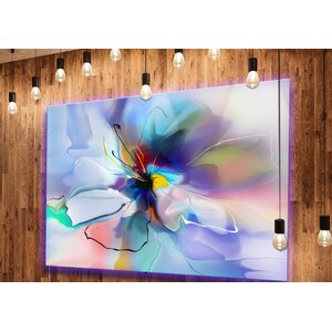 'Abstract Creative Blue Flower' Graphic Art on Metal by Design Art