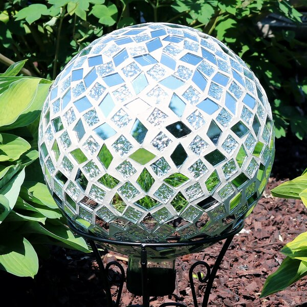 Nickerson Mirrored Diamond Mosaic Gazing Globe by World Menagerie