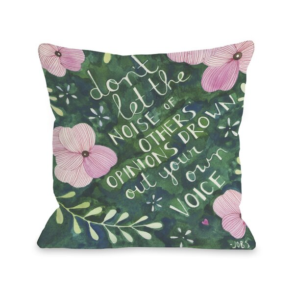 Your Own Voice Throw Pillow by One Bella Casa
