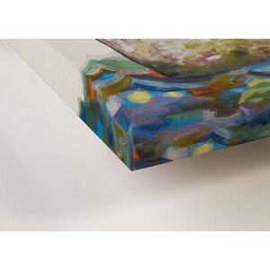 'Whale Spray' by Eli Halpin Painting Print on Wrapped Canvas by GreenBox Art