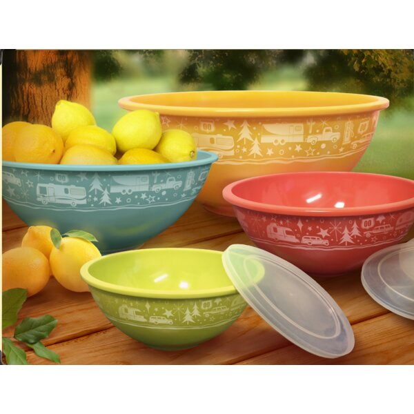 Crossville Melamine 4 Piece Serving Bowl Set by Winston Porter