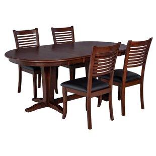Princeton 5 Piece Solid Wood Dining Set ByTTP Furnish