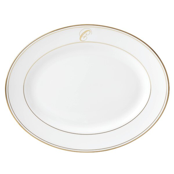 Federal Gold™ Monogram Script Platter by Lenox