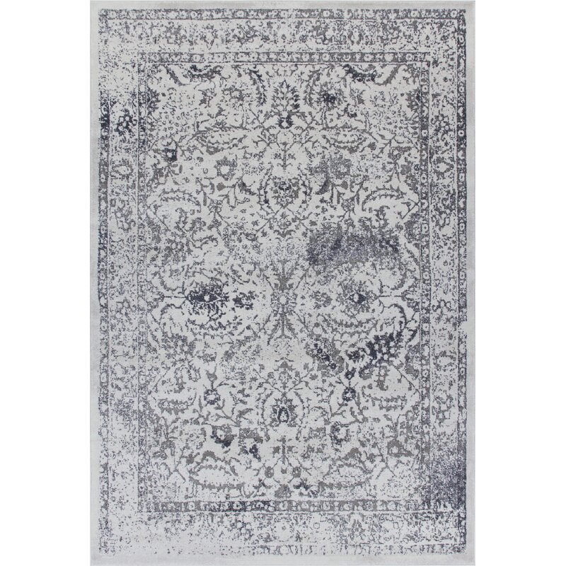 World Menagerie Horwich Woven Blue Rug