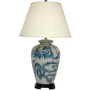 Chinese vase lamp wayfair chinese landscape oriental 29 table lamp aloadofball Choice Image