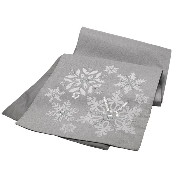 Glistening Snow Table Runner by Manor Luxe