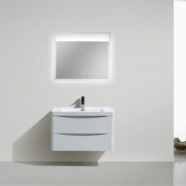 Ruelas 35 Wall-Mounted Single Bathroom Vanity Set by Wrought Studio