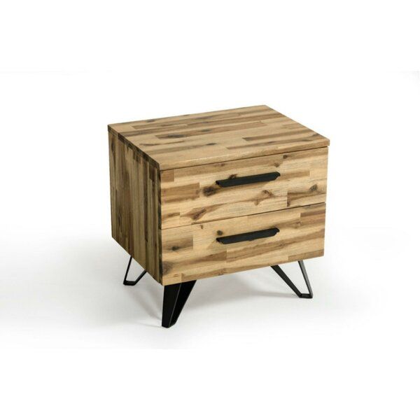 Bradburn Wooden 2 Drawer Nightstand by Foundry Select Foundry Select