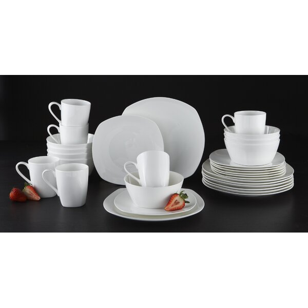 Jezebel 32 Piece Bone China Dinnerware Set, Service for 8 by Latitude Run