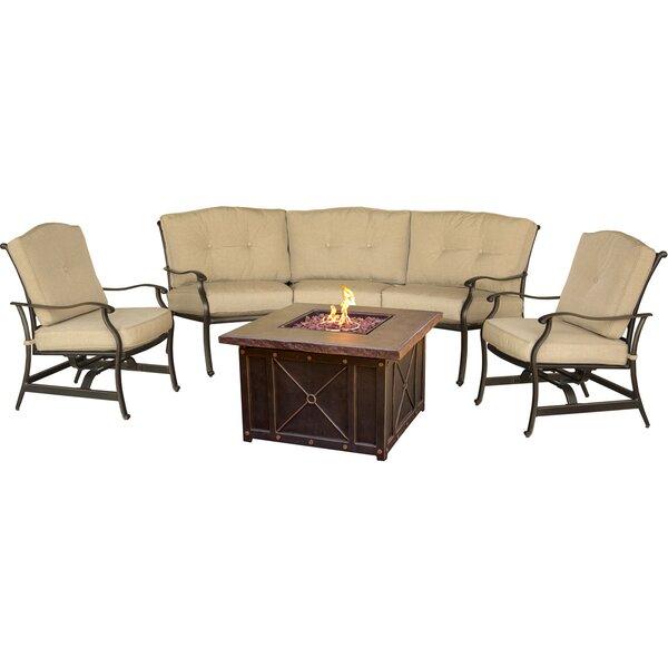Bryden 4 Piece Sofa Set with Cushions by Fleur De Lis Living