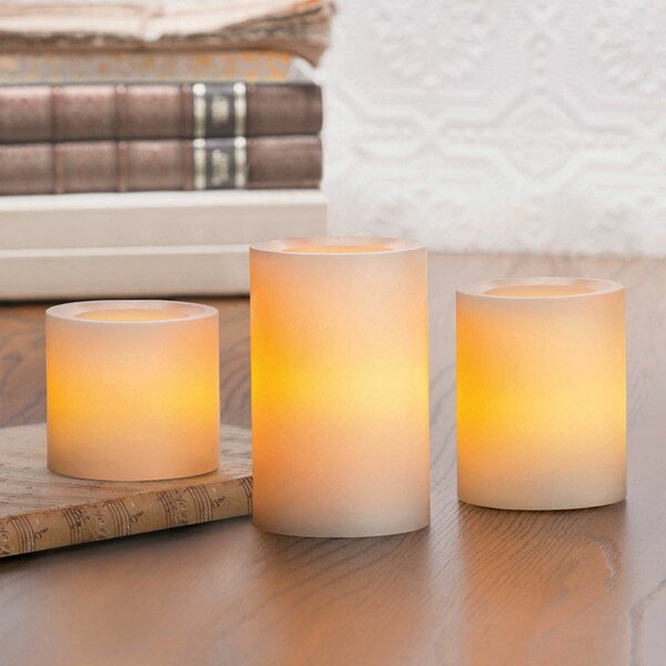 3 Piece Vanilla Scented Flamless Candle Set by The Holiday Aisle
