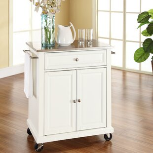 Thorpe Kitchen Cart with Stainless Steel Top ByCharlton Home