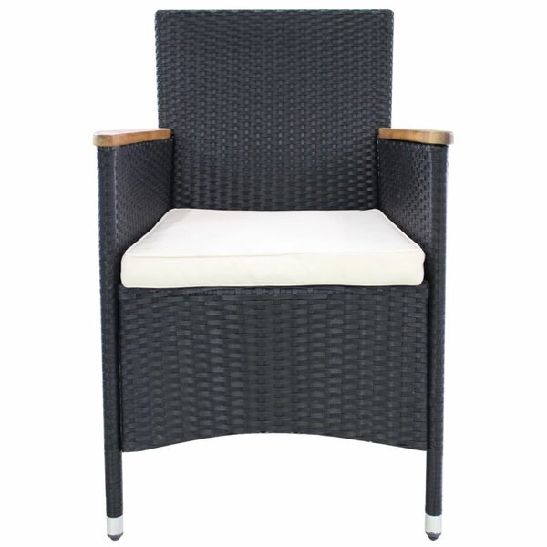 Dovercliff Poly Rattan Recliner Patio Chair with Cushions (Set of 2) by Latitude Run Latitude Run