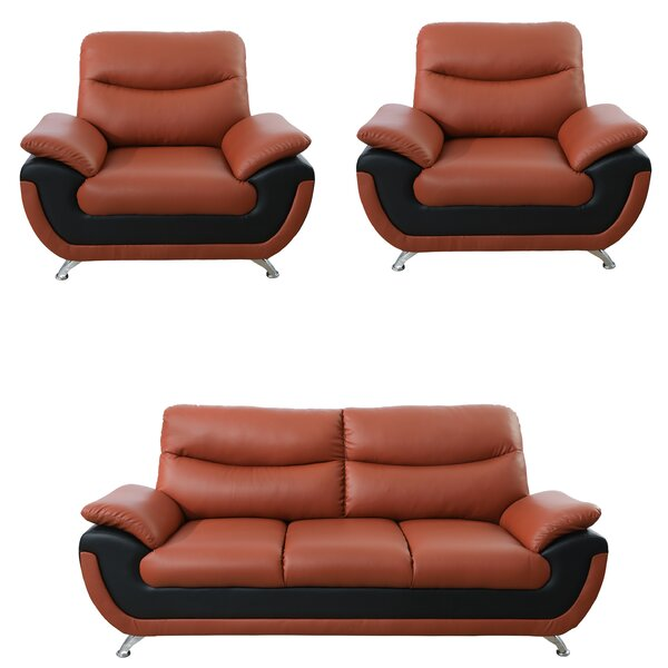 Nevarez 3 Piece Living Room Set by Orren Ellis
