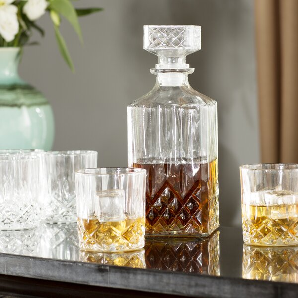 Westerville 7 Piece Decanter Set By Three Posts.