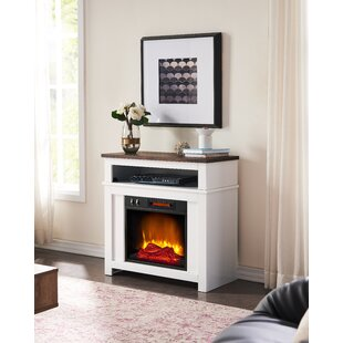 Chonie TV Stand for TVs up to 32 with Electric Fireplace Included by August Grove