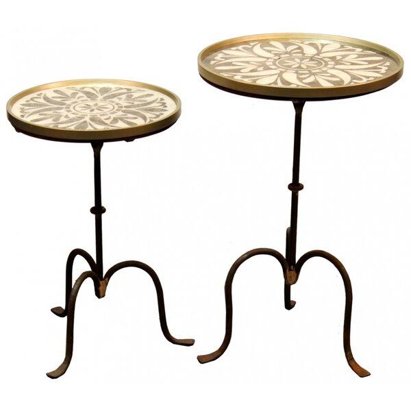 Talia 2 Piece Nesting Tables by One Allium Way One Allium Way®