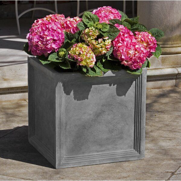 Artie Square Fiberglass Clay Composite Pot Planter (Set of 4) by Darby Home Co